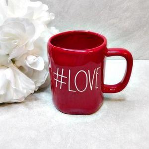 "Rae Dunn ""#LOVE"" Valentines 2021 mug red NEW"